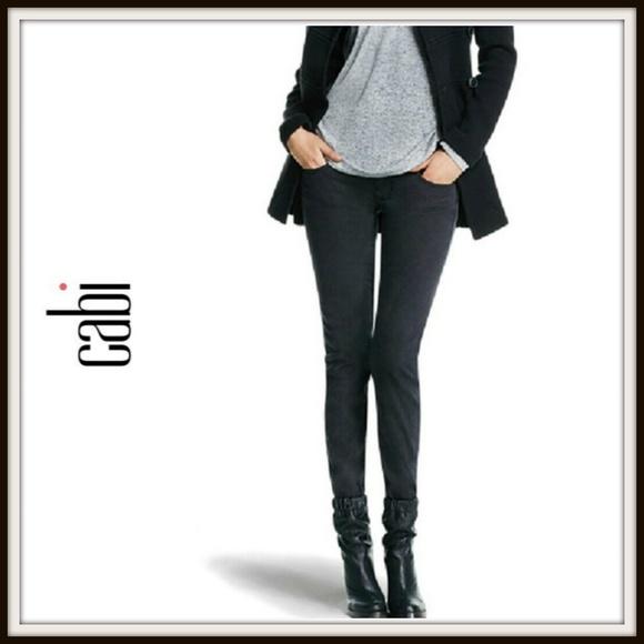 CAbi Denim - Cabi Pitch Gunmetal Black Super Skinny Jeans
